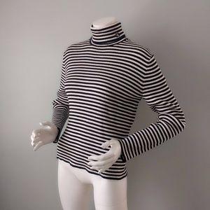 Vtg 90s Ralph Lauren Japan Striped Turtleneck L